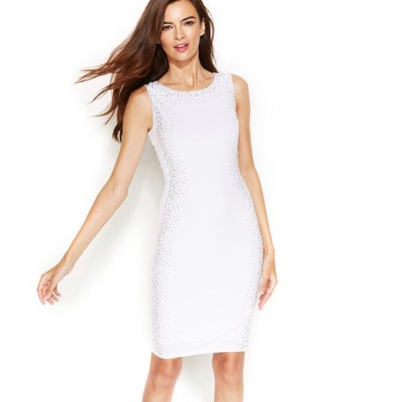 e073d98e Calvin Klein Dresses   Nwt Silvergold Bodycon Dress   Poshmark
